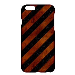 Stripes3 Black Marble & Brown Burl Wood Apple Iphone 6 Plus/6s Plus Hardshell Case by trendistuff