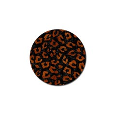 Skin5 Black Marble & Brown Burl Wood (r) Golf Ball Marker (4 Pack) by trendistuff