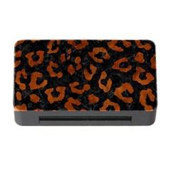 Skin5 Black Marble & Brown Burl Wood (r) Memory Card Reader With Cf by trendistuff