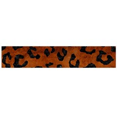 Skin5 Black Marble & Brown Burl Wood Flano Scarf (large) by trendistuff