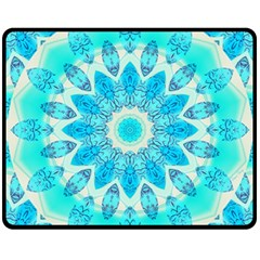 Blue Ice Goddess, Abstract Crystals Of Love Fleece Blanket (medium)