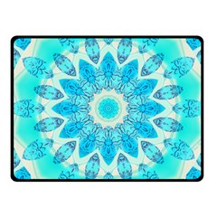 Blue Ice Goddess, Abstract Crystals Of Love Fleece Blanket (small) by DianeClancy