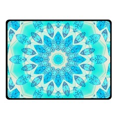 Blue Ice Goddess, Abstract Crystals Of Love Double Sided Fleece Blanket (small)  by DianeClancy
