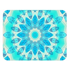Blue Ice Goddess, Abstract Crystals Of Love Double Sided Flano Blanket (large)