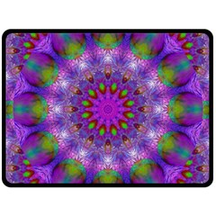 Rainbow At Dusk, Abstract Star Of Light Double Sided Fleece Blanket (large)  by DianeClancy