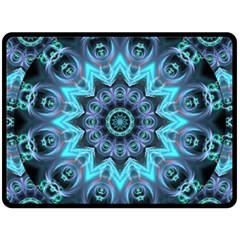 Star Connection, Abstract Cosmic Constellation Double Sided Fleece Blanket (large)  by DianeClancy