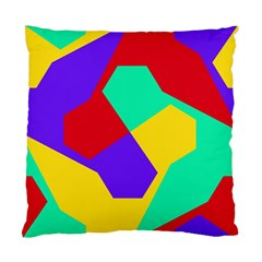Colorful Misc Shapes                                                  standard Cushion Case (two Sides) by LalyLauraFLM