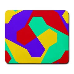 Colorful Misc Shapes                                                  			large Mousepad by LalyLauraFLM