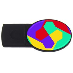 Colorful Misc Shapes                                                  			usb Flash Drive Oval (2 Gb) by LalyLauraFLM