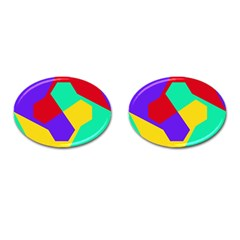 Colorful Misc Shapes                                                  			cufflinks (oval) by LalyLauraFLM