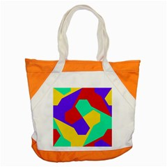 Colorful Misc Shapes                                                  			accent Tote Bag by LalyLauraFLM