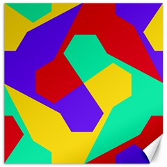 Colorful Misc Shapes                                                  			canvas 12  X 12  by LalyLauraFLM
