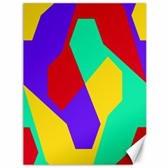 Colorful Misc Shapes                                                  canvas 36  X 48  by LalyLauraFLM