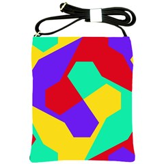Colorful Misc Shapes                                                  			shoulder Sling Bag by LalyLauraFLM