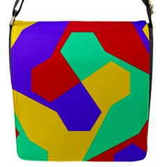 Colorful Misc Shapes                                                  			flap Closure Messenger Bag (s) by LalyLauraFLM