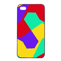 Colorful Misc Shapes                                                  			apple Iphone 4/4s Seamless Case (black) by LalyLauraFLM