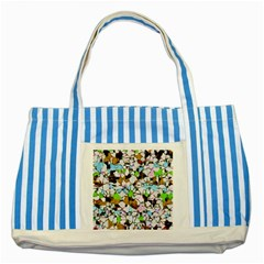 Brush Strokes On A White Background                                                   striped Blue Tote Bag by LalyLauraFLM