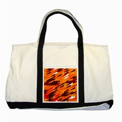 Brown Orange Shapes                                                    			two Tone Tote Bag by LalyLauraFLM