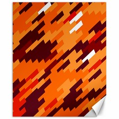 Brown Orange Shapes                                                    canvas 16  X 20  by LalyLauraFLM