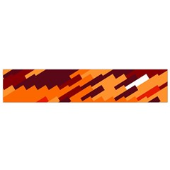 Brown Orange Shapes                                                    Flano Scarf by LalyLauraFLM
