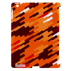 Brown Orange Shapes                                                    			apple Ipad 3/4 Hardshell Case (compatible With Smart Cover) by LalyLauraFLM