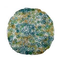Fading Shapes Texture                                                    standard 15  Premium Flano Round Cushion by LalyLauraFLM