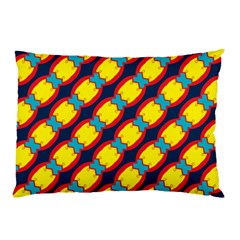 Blue X Chains                                                     			pillow Case by LalyLauraFLM
