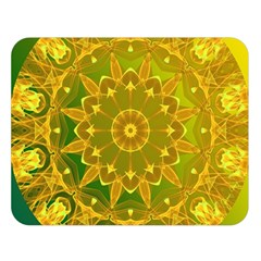 Yellow Green Abstract Wheel Of Fire Double Sided Flano Blanket (large)  by DianeClancy
