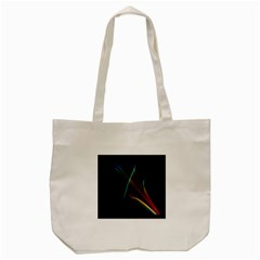 Abstract Rainbow Lily, Colorful Mystical Flower  Tote Bag (cream) by DianeClancy