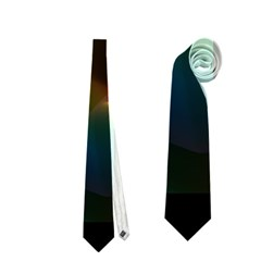 Abstract Rainbow Lily, Colorful Mystical Flower  Neckties (one Side)