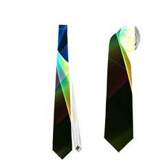 Aurora Ribbons, Abstract Rainbow Veils  Neckties (two Side)