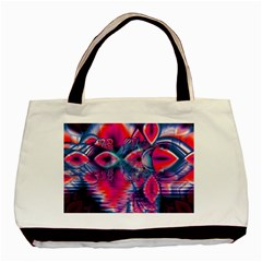 Cosmic Heart Of Fire, Abstract Crystal Palace Basic Tote Bag by DianeClancy