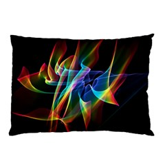 Aurora Ribbons, Abstract Rainbow Veils  Pillow Case by DianeClancy