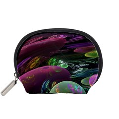 Creation Of The Rainbow Galaxy, Abstract Accessory Pouches (small)  by DianeClancy