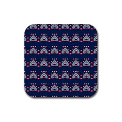 Hearts Pattern                                                      			rubber Square Coaster (4 Pack by LalyLauraFLM
