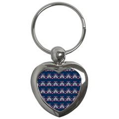 Hearts Pattern                                                      key Chain (heart) by LalyLauraFLM