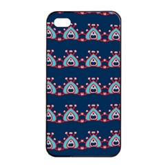 Hearts Pattern                                                      			apple Iphone 4/4s Seamless Case (black) by LalyLauraFLM
