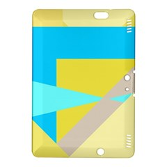 Blue Yellow Shapes                                                        			kindle Fire Hdx 8 9  Hardshell Case by LalyLauraFLM