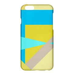 Blue Yellow Shapes                                                        apple Iphone 6 Plus/6s Plus Hardshell Case by LalyLauraFLM