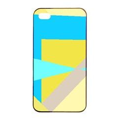Blue Yellow Shapes                                                        			apple Iphone 4/4s Seamless Case (black) by LalyLauraFLM