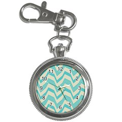 Blue Waves Pattern                                                         			key Chain Watch by LalyLauraFLM