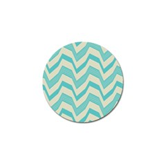 Blue Waves Pattern                                                         			golf Ball Marker (4 Pack) by LalyLauraFLM