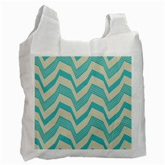 Blue Waves Pattern                                                         			recycle Bag (one Side) by LalyLauraFLM