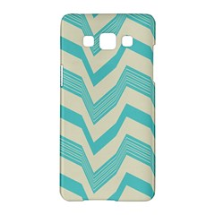 Blue waves pattern                                                         			Samsung Galaxy A5 Hardshell Case by LalyLauraFLM