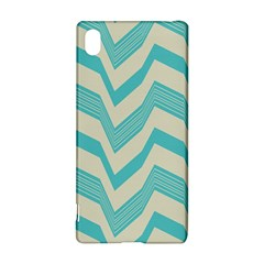Blue Waves Pattern                                                         			sony Xperia Z3+ Hardshell Case by LalyLauraFLM