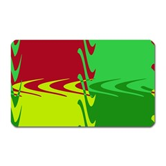 Wavy Shapes                                                         			magnet (rectangular) by LalyLauraFLM