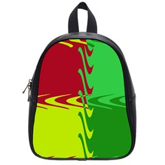 Wavy Shapes                                                         			school Bag (small) by LalyLauraFLM