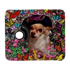 Chi Chi In Butterflies, Chihuahua Dog In Cute Hat Samsung Galaxy S  Iii Flip 360 Case by DianeClancy