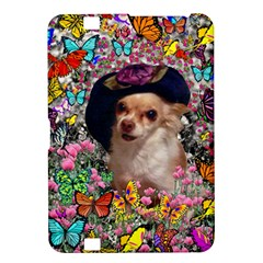 Chi Chi In Butterflies, Chihuahua Dog In Cute Hat Kindle Fire Hd 8 9  by DianeClancy