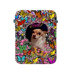 Chi Chi In Butterflies, Chihuahua Dog In Cute Hat Apple Ipad 2/3/4 Protective Soft Cases by DianeClancy